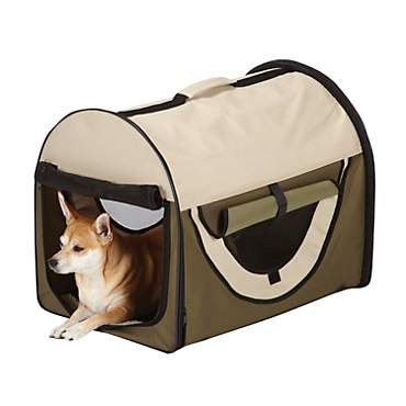 Be Good Insect Shield Collapsible Green Dog Crate