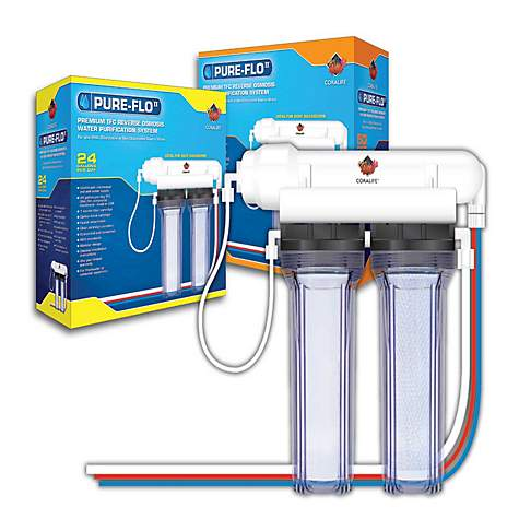 Coralife pure flo ii 24 gallon reverse osmosis 2 canister for Petco fish filters