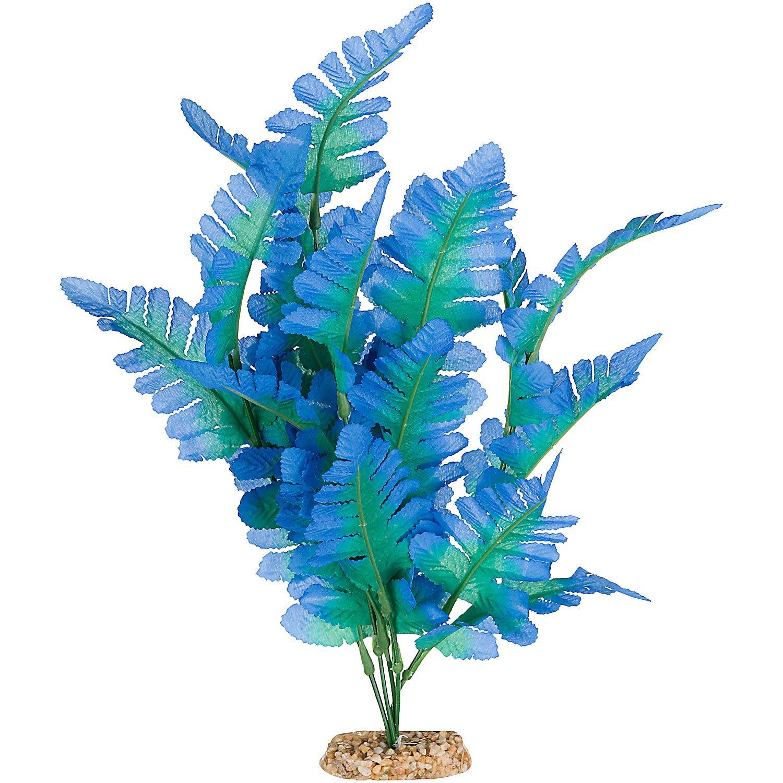 Imagitarium blue fern silk aquarium plant petco for Fish and plant tank