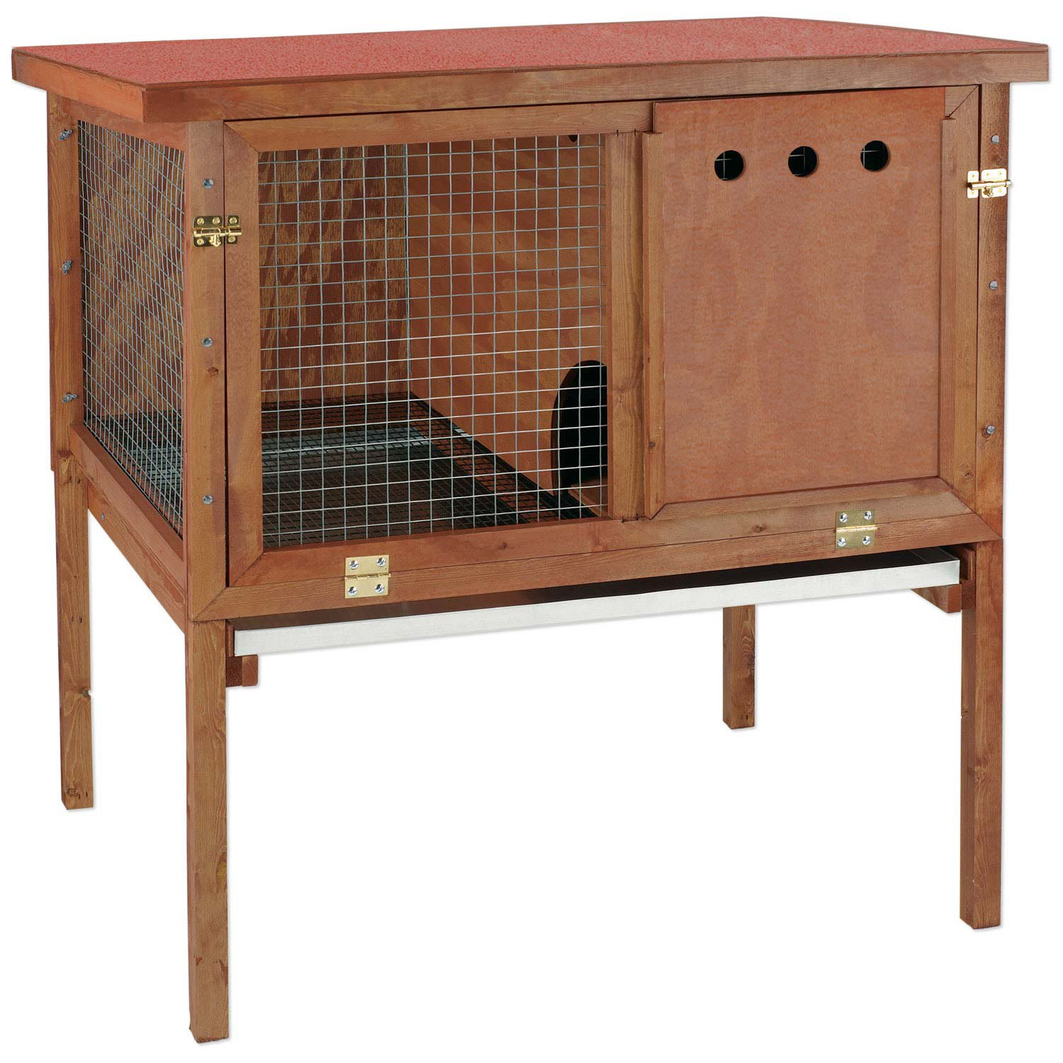 Ware hd deluxe rabbit hutch petco for What is a rabbit hutch