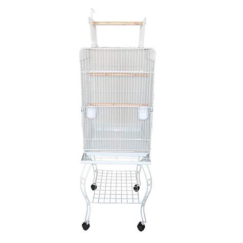 YML Open Top White Bird Cage