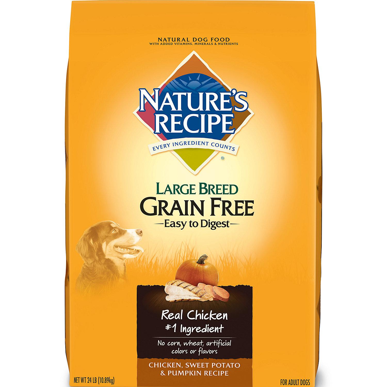 Natures Recipe Grain Free Chicken Sweet Potato Pumpkin Large Breed Adult Dog Food