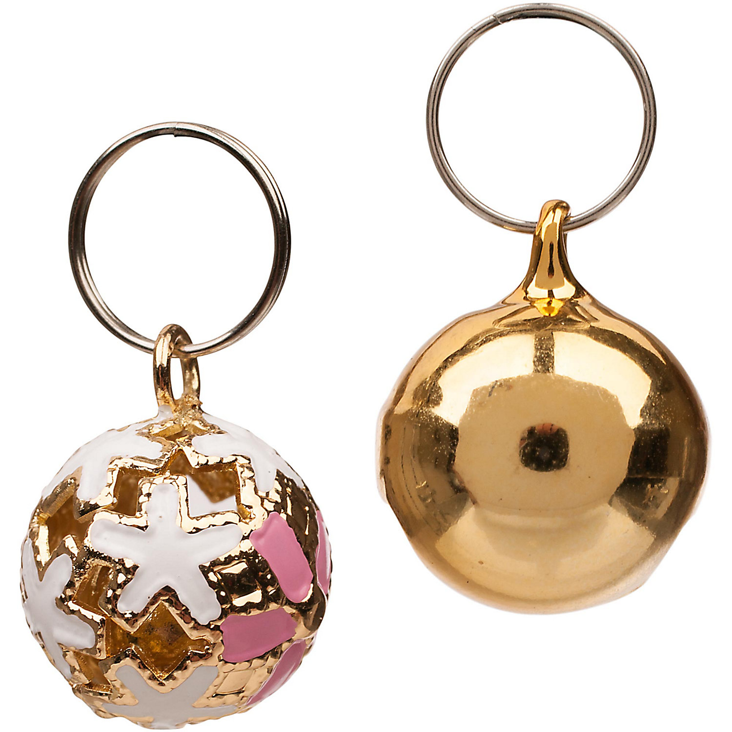 Bond Co Solid Metallic Collar Bells One Size Fits All Gold