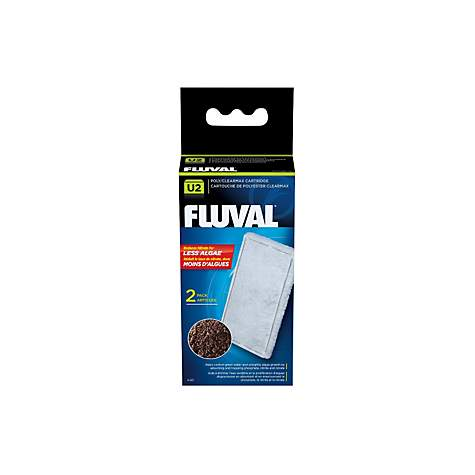 Fluval U2 Clearmax Filter Cartridge, Pack of 2 cartridges