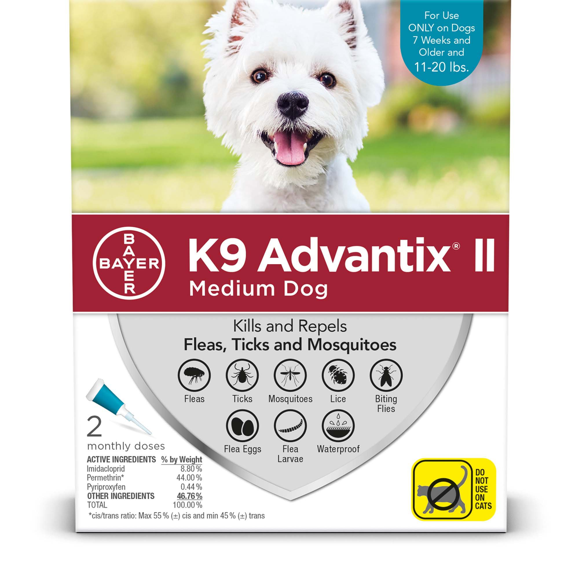 K9 Advantix Ii Topical Medium Dog Flea Tick Treatment Petco