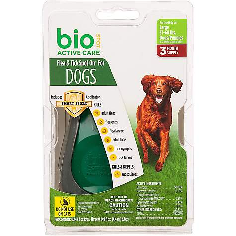 Bio Spot Active Care Flea & Tick Dog Spot On Applicator, Large Dog