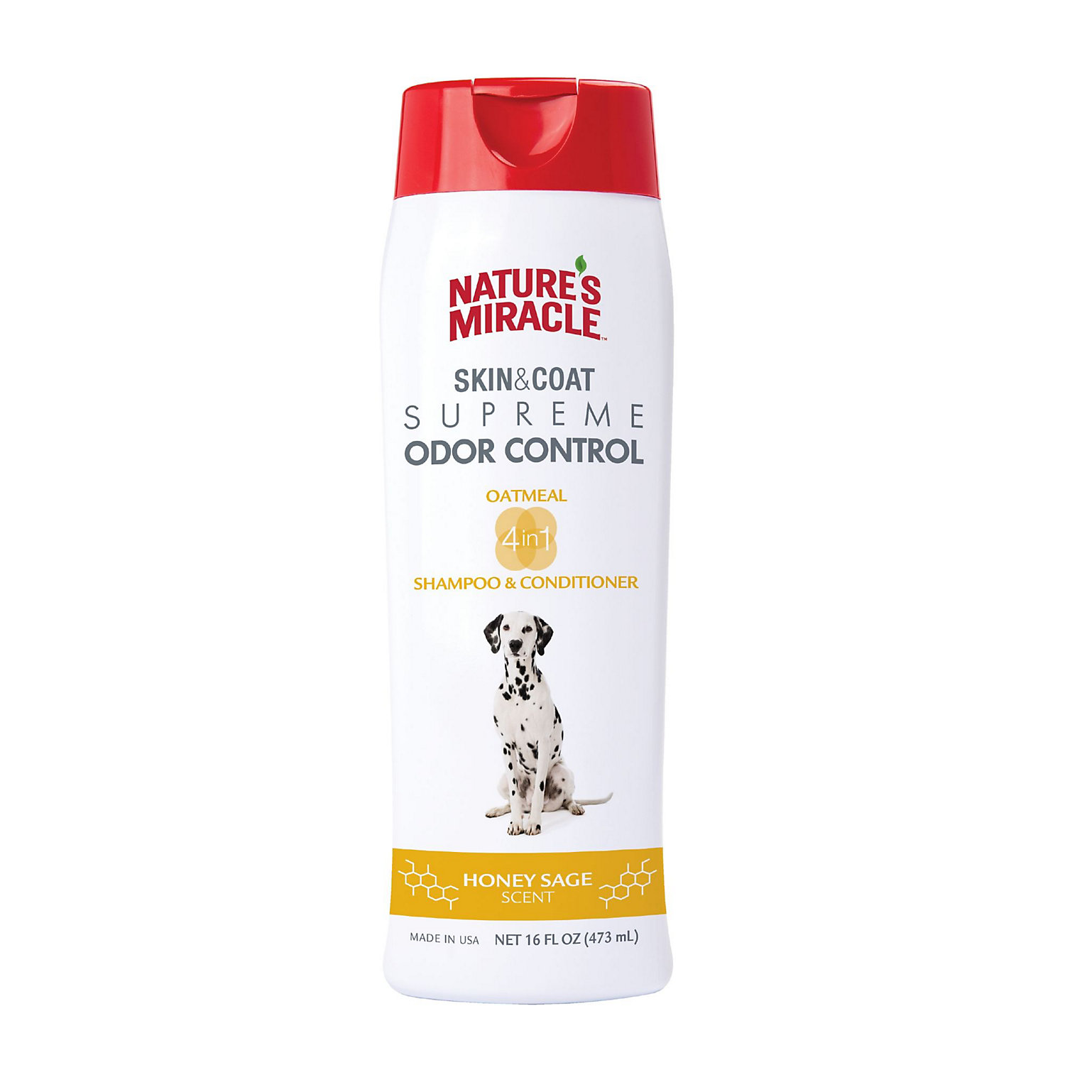 Natures Miracle Supreme Odor Control Natural Oatmeal Dog Shampoo & Conditioner, 16 Fl. Oz.
