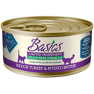 Blue Buffalo Blue Basics Adult Grain-Free Turkey And Potato Entree Wet Cat Food
