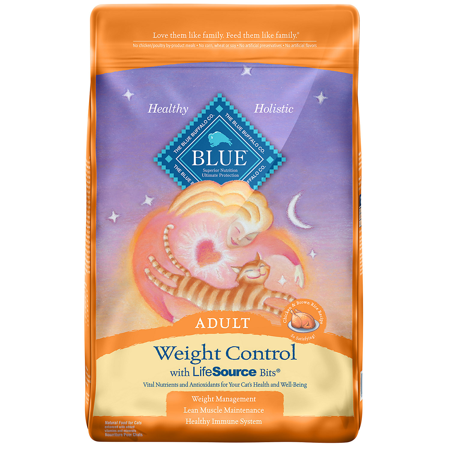 Blue Buffalo Weight Control Chicken Brown Rice Adult Cat Food 15 Lbs.