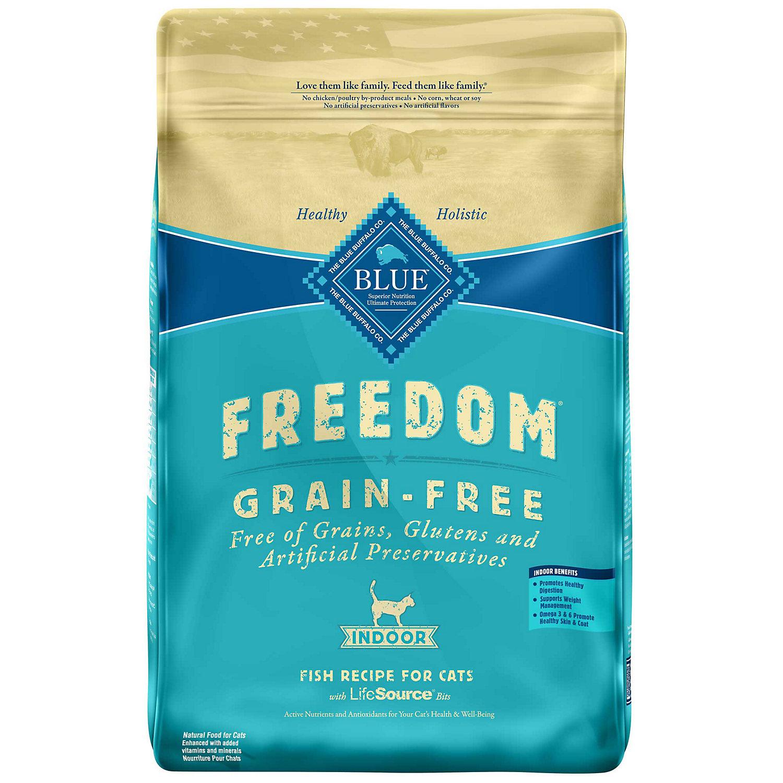 Blue Buffalo Freedom Grain Free Fish Indoor Cat Food 11 Lbs.