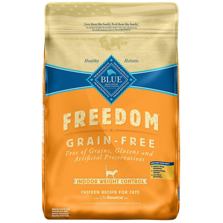 Blue Buffalo Freedom Weight Control Grain Free Chicken Indoor Adult Cat Food 11 Lbs.