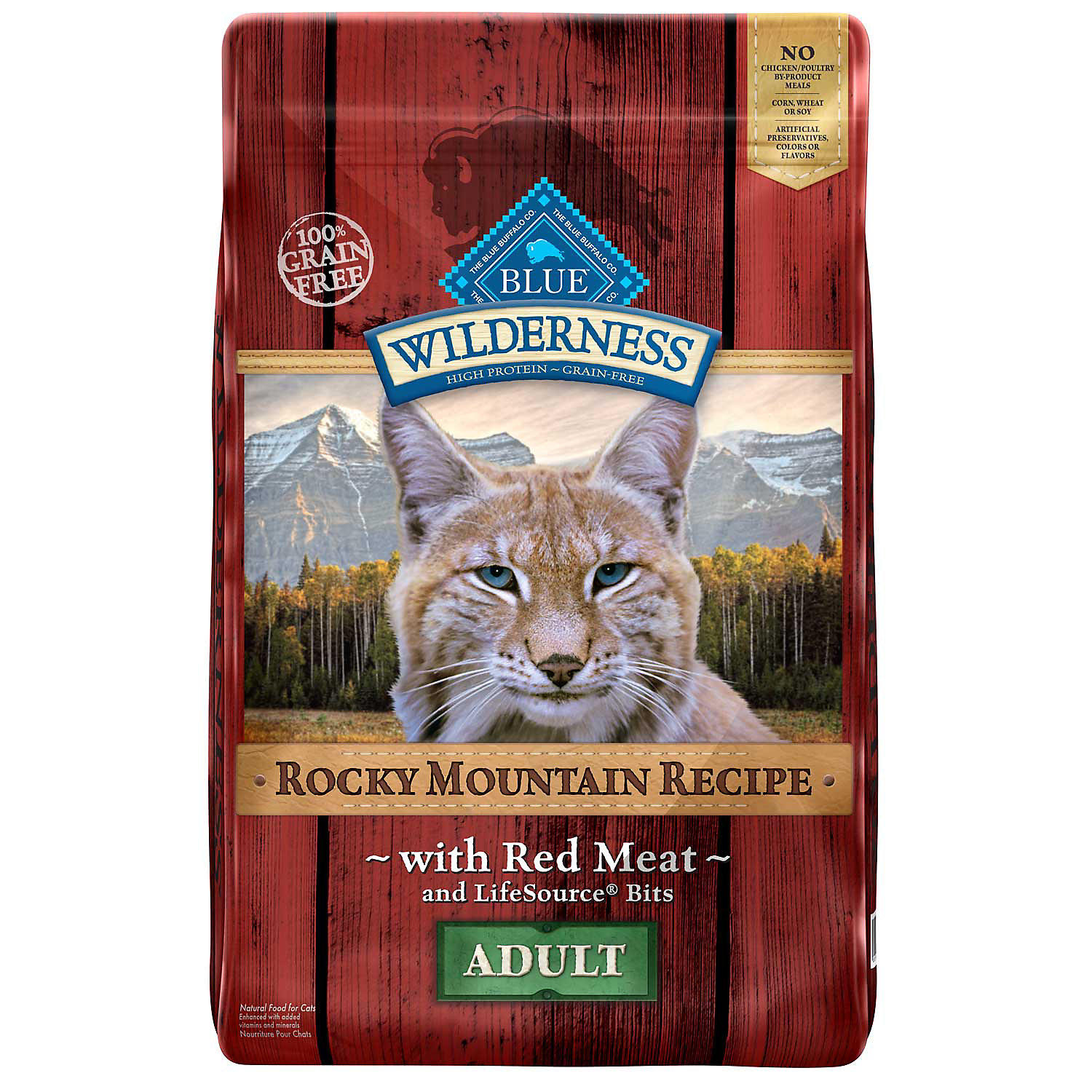 Blue Buffalo Wilderness Grain Free Rocky Mountain Red Meat Adult Cat Food 10 Lbs.