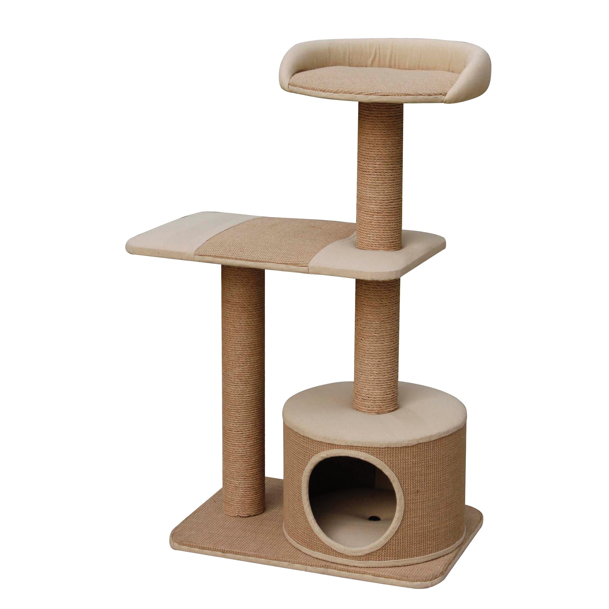 PetPals Group 3 Level Playhouse Condo Cat Tree | Petco