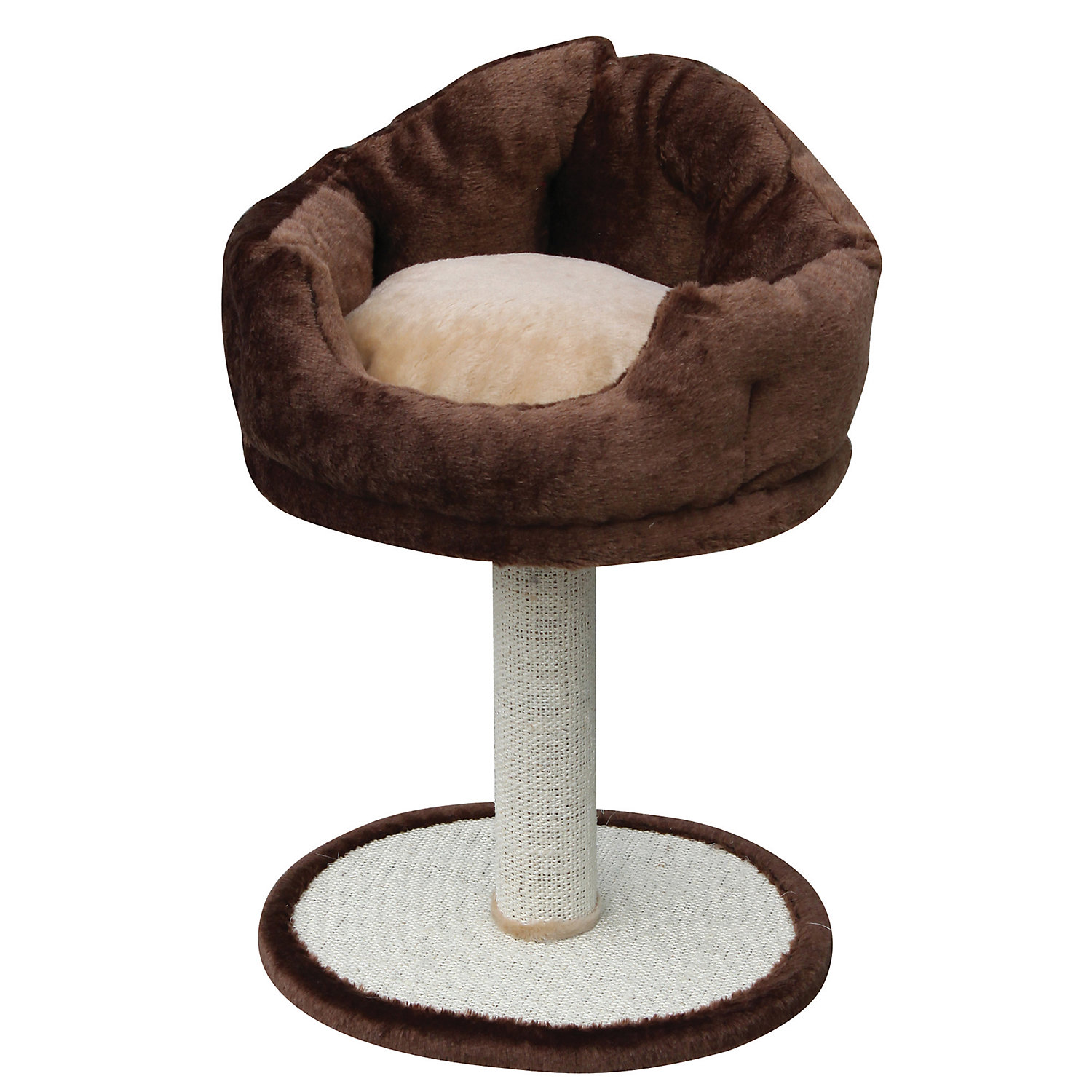 Petpals Group Brown Barstool Design Cat Scratching Post 24 Standard