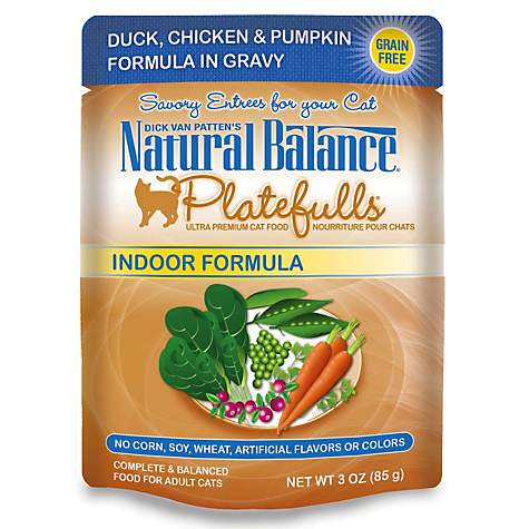 Natural Balance Platefulls Duck, Chicken & Pumpkin Adult Cat Food