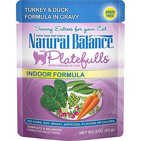 Natural Balance Platefulls Turkey & Duck Indoor Adult Cat Food