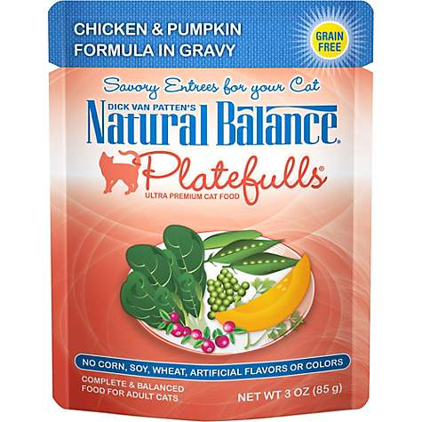 Natural Balance Platefulls Chicken & Pumpkin Adult Cat Food