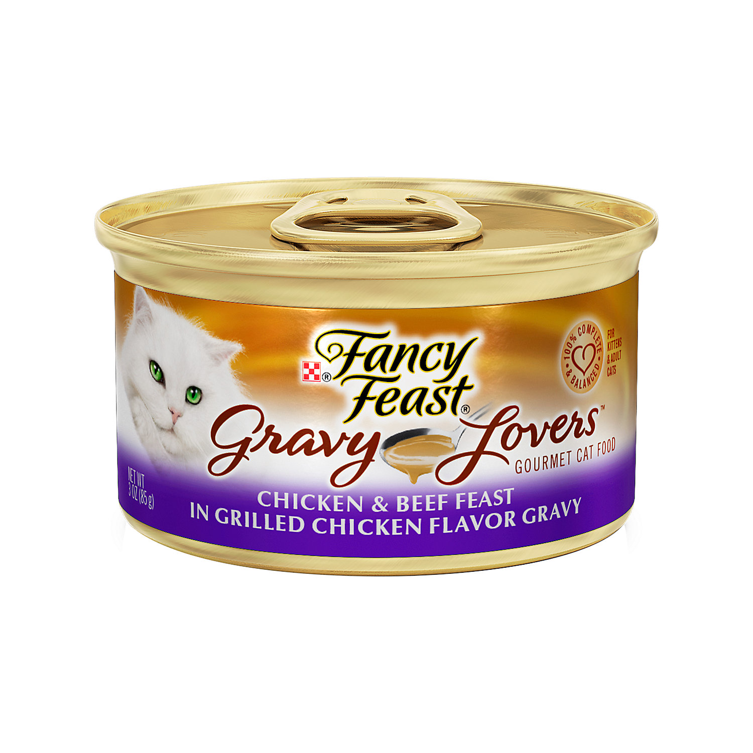She's a VIP, and she knows it, which is why she has come to expect only the best. This Purina Fancy Feast Classic Poultry & Beef Collection wet cat food makes her expectations a reality.