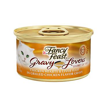 Fancy Feast Gravy Lovers Chicken Hearts & Liver Feast In Grilled Chicken Flavor Gravy Gourmet Cat Food