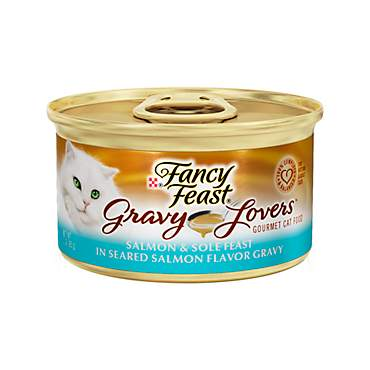 Fancy Feast Gravy Lovers Salmon & Sole Feast In Seared Salmon Flavor Gravy Gourmet Cat Food