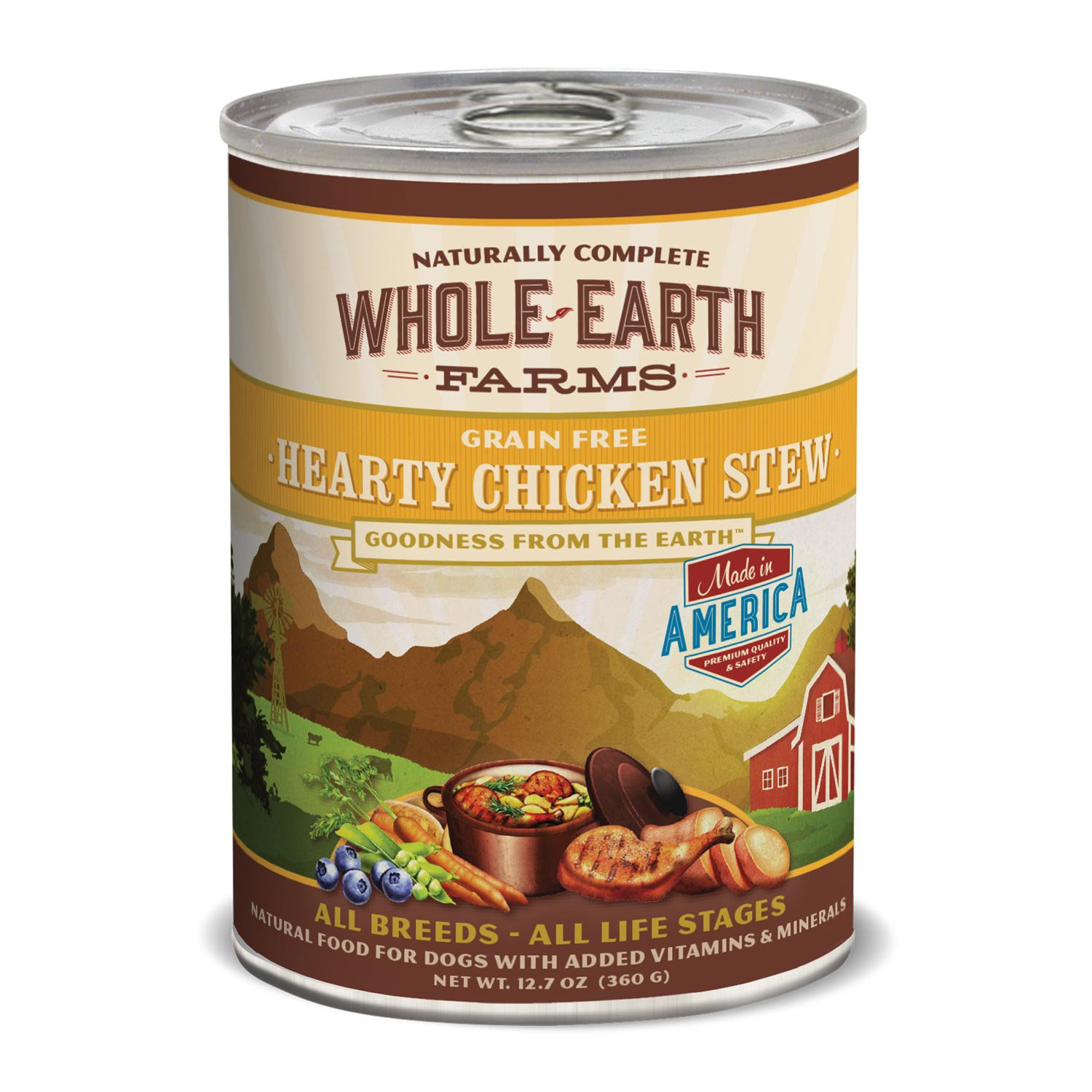 Whole Earth Farms Grain Free Hearty Chicken Stew Canned Dog Food