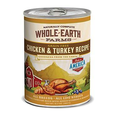 Whole Earth Farms Grain Free Canned Dog Food, Chicken & Turkey Recipe