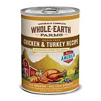 Whole Earth Farms Grain Free Canned Dog Food, Chicken & Turkey
