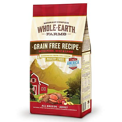 Whole Earth Farms Grain Free Recipe with Pork, Beef & Lamb Dry Dog Food