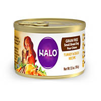 Halo Grain Free Turkey & Duck Small Breed Canned Dog Food