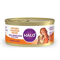 Halo Grain Free Chicken & Salmon Small Breed Canned Dog Food
