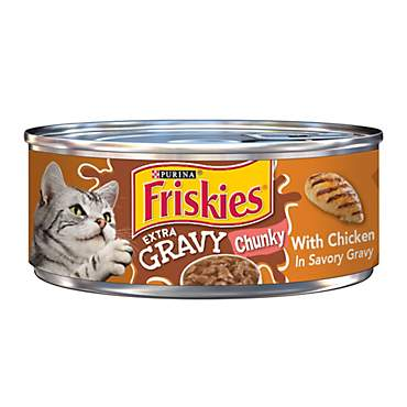 Purina Friskies Extra Gravy Chunky with Chicken in Savory Gravy Wet Cat Food