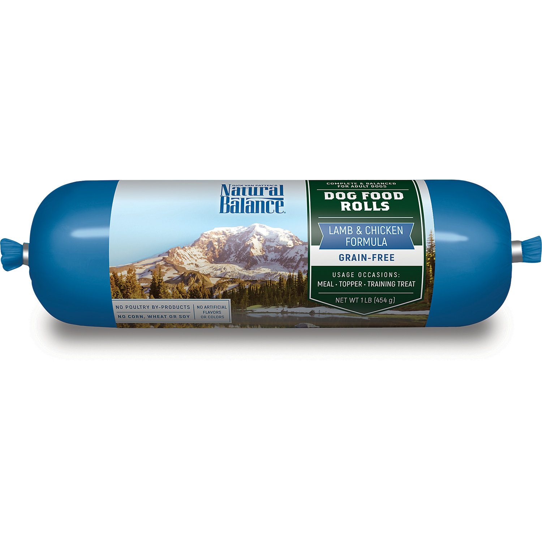 Natural Balance Lamb Chicken Formula Dog Food Rolls 1 Lb.