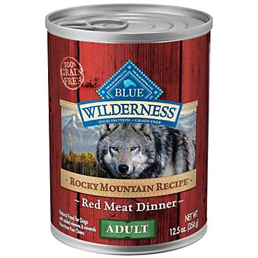 Blue Buffalo Blue Wilderness Rocky Mountain Recipe Adult Red Meat Dinner Wet Dog Food