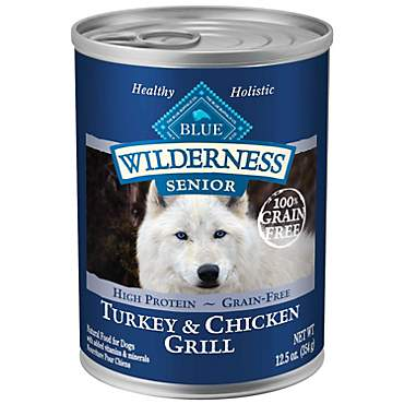 Blue Buffalo Blue Wilderness Senior Turkey & Chicken Grill Wet Dog Food