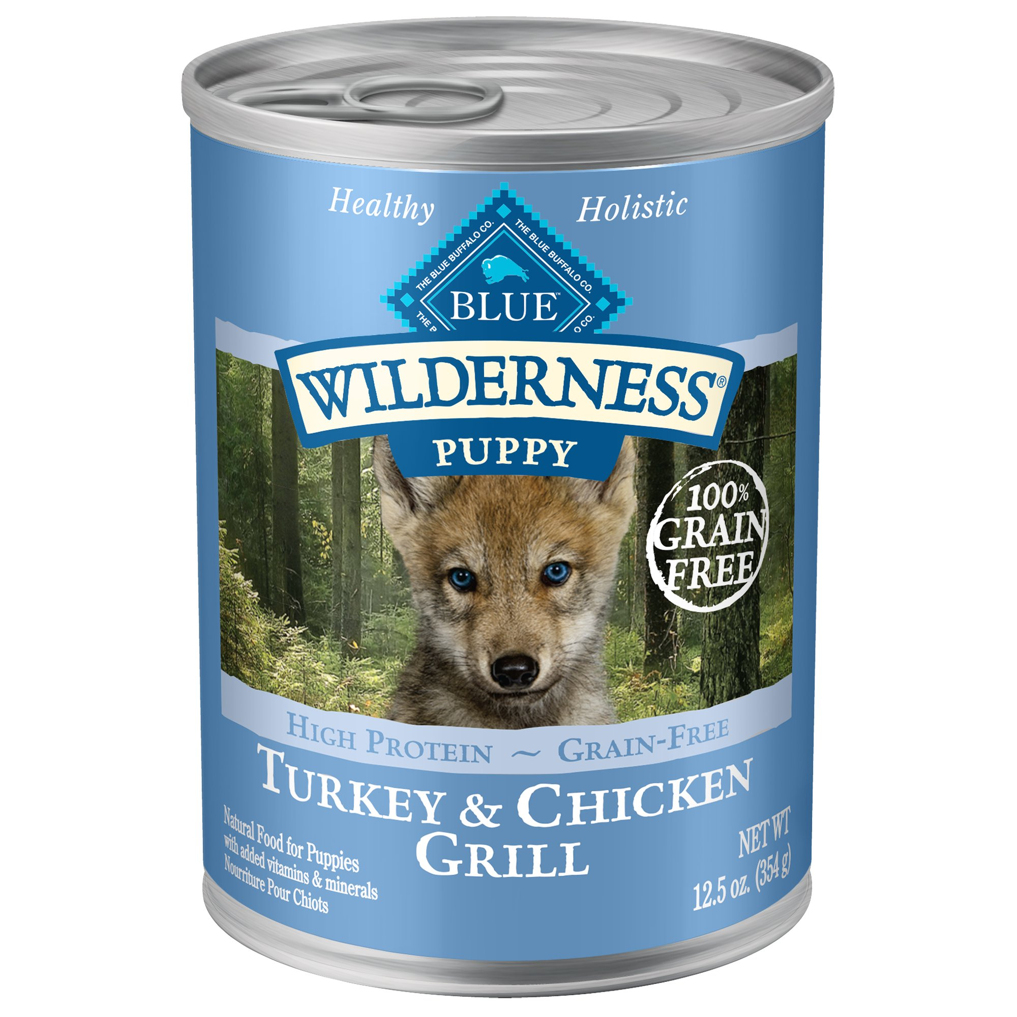 Blue Buffalo Blue Wilderness Puppy Turkey Chicken Grill Wet Dog