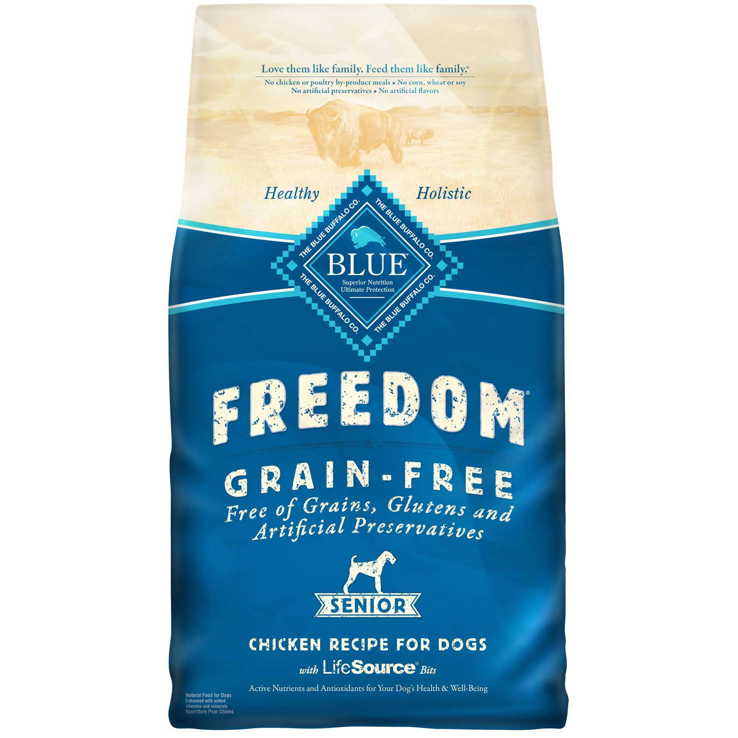 Blue Buffalo dry dog food is natural, healthy, and HOLISTIC. Made with only REAL MEAT and the finest NATURAL INGREDIENTS: Garden veggies and fruit along with .
