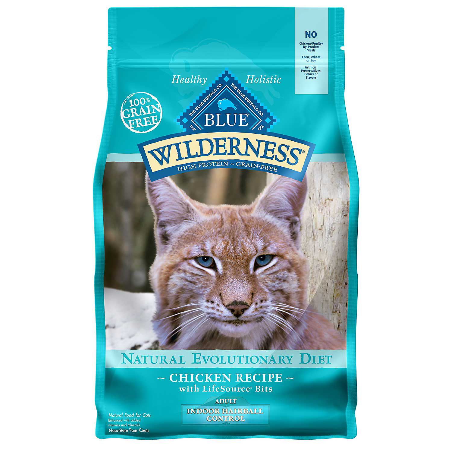 Blue Buffalo Wilderness Indoor Hairball Control Chicken Adult Dry Cat Food 5 Lbs.