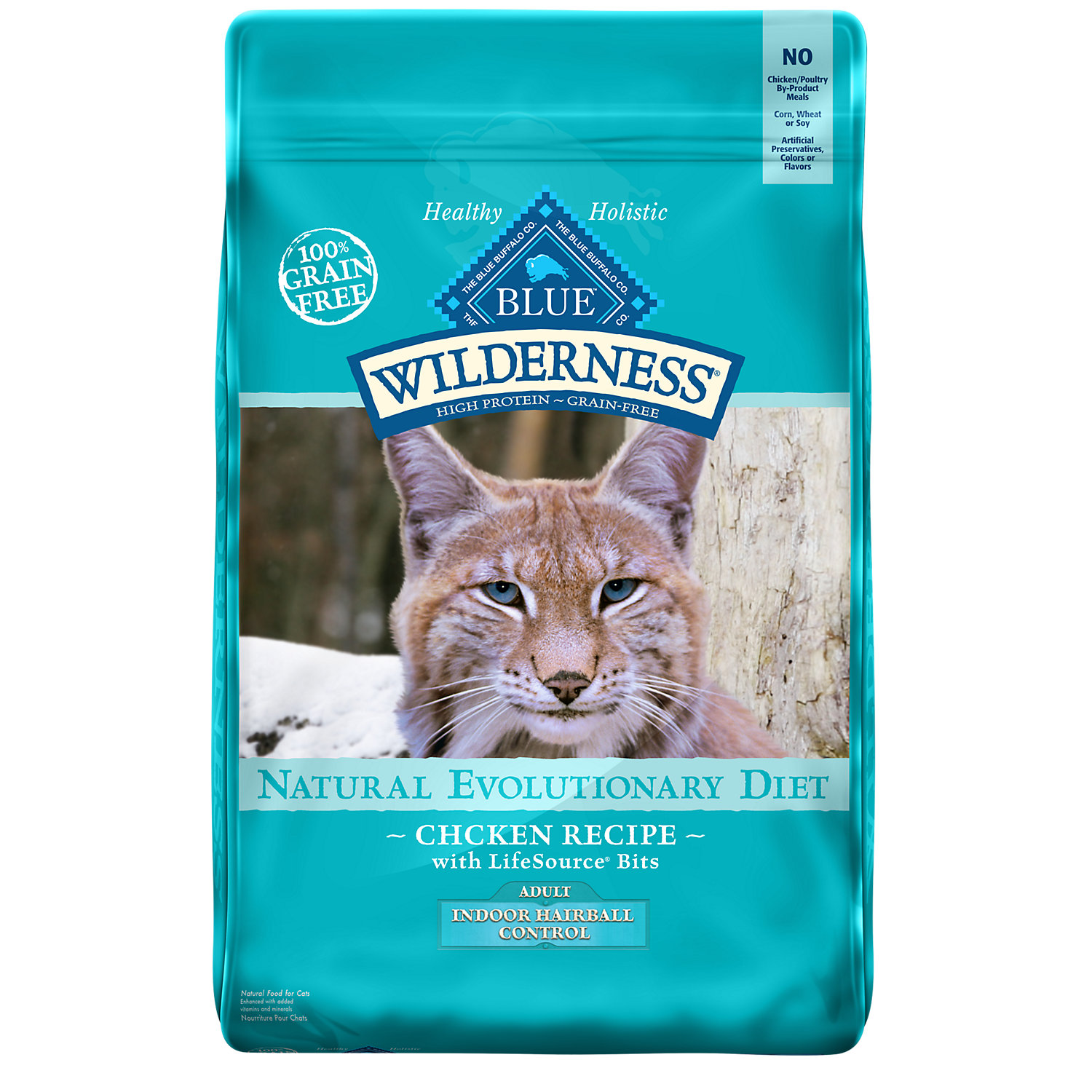 Blue Buffalo Wilderness Indoor Hairball Control Chicken Adult Dry Cat Food 11 Lbs.