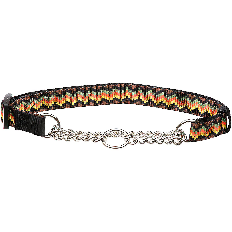 Hamilton Zigzag Pattern Martingale Dog Collar
