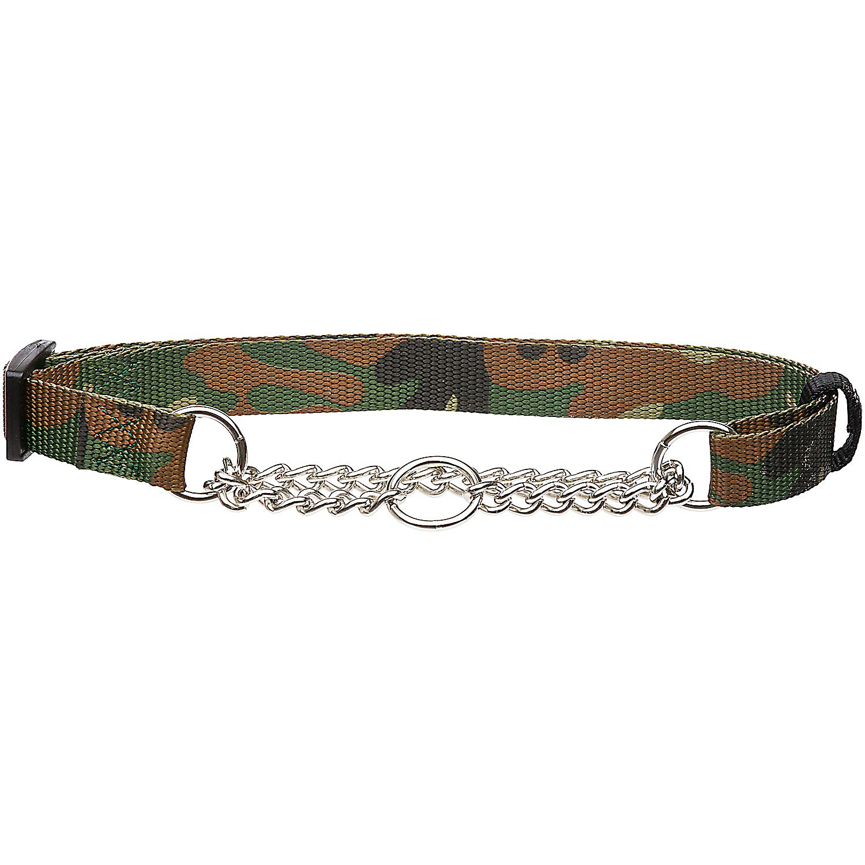 Hamilton Camo Nylon And Chain Dog Collar