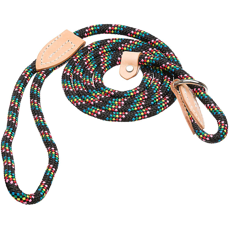 Hamilton London Quick Black Confetti Dog Collar Leash Combo 6 L X 3/8 W