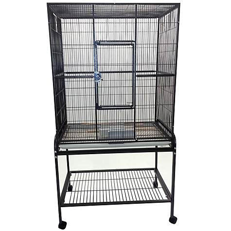 A&E Cage Company Flight Bird Cage in Black