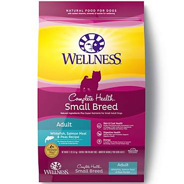 Wellness Complete Health Natural Small Breed Salmon Meal and Peas Recipe Dry Dog Food