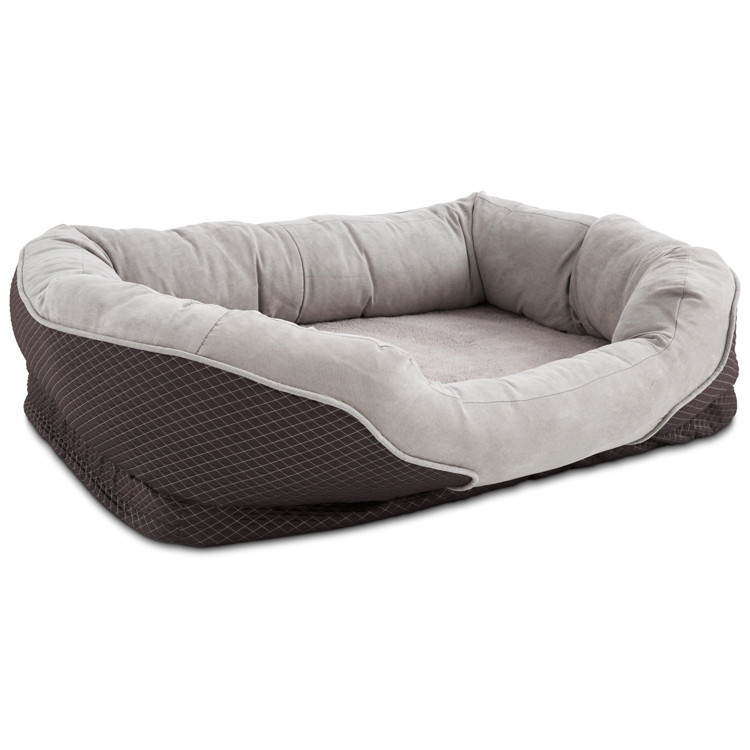orthopedic peaceful nester gray dog bed - Dog Beds For Large Dogs