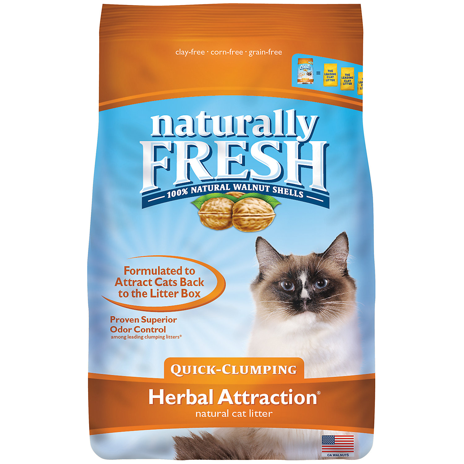 Blue Buffalo Blue Naturally Fresh Herbal Attraction Quick-clumping Formula Cat Litter