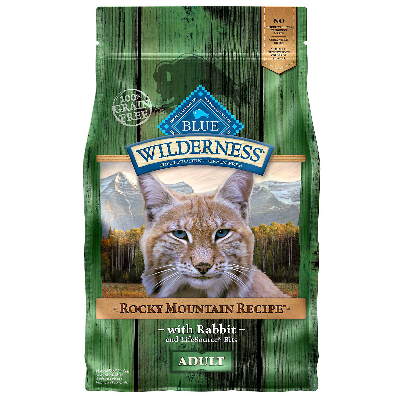 Blue Buffalo Wilderness Grain Free Rocky Mountain Rabbit Adult Cat Food 4 Lbs.