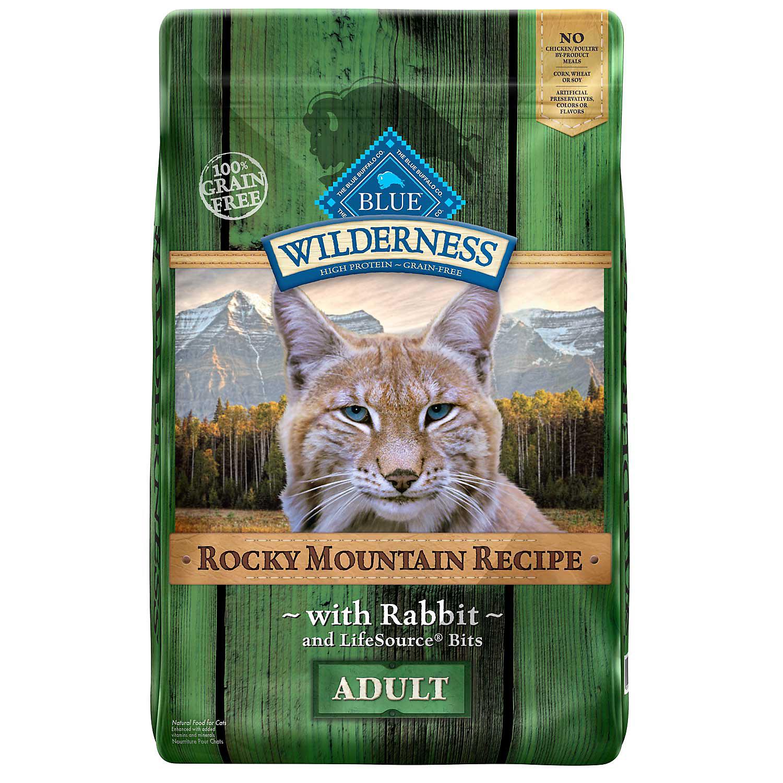 Blue Buffalo Wilderness Grain Free Rocky Mountain Rabbit Adult Cat Food 10 Lbs.