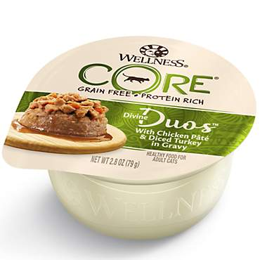 Wellness CORE Divine Duos Natural Grain Free Chicken & Turkey Wet Cat Food