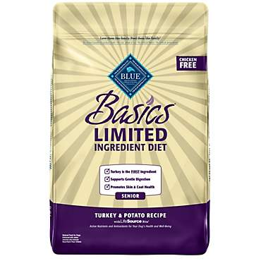 Blue Buffalo Blue Basics Senior Turkey & Potato Recipe Dry Dog Food