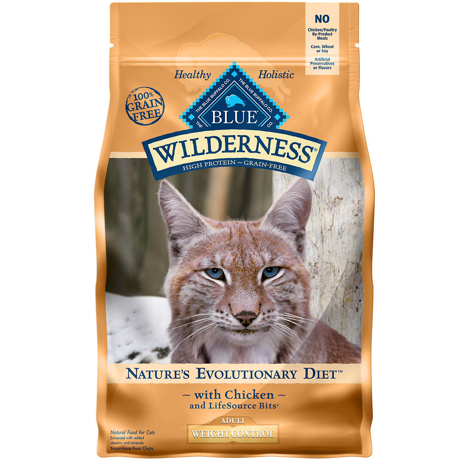 Blue Buffalo Wilderness Weight Control Chicken Adult Dry Cat Food 2 Lbs.
